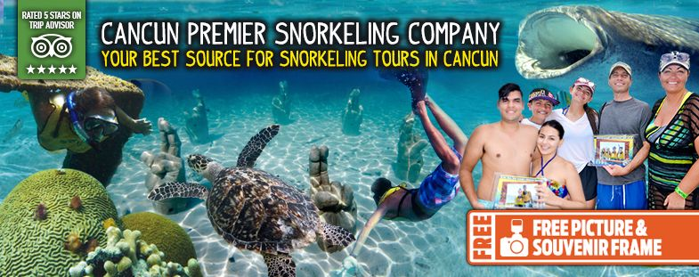 Free picture souvenir on cancun Snorkel