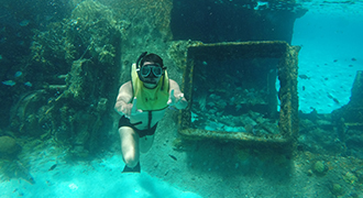 experience swimming in a shipwreck