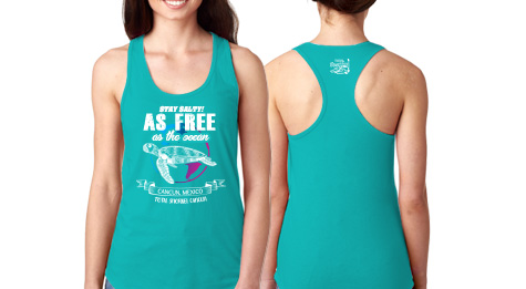 Blue style T-shirt for woman