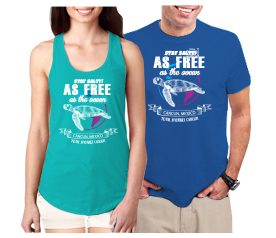 T-shirt As Free As The Ocean Cancun Souvenir Design